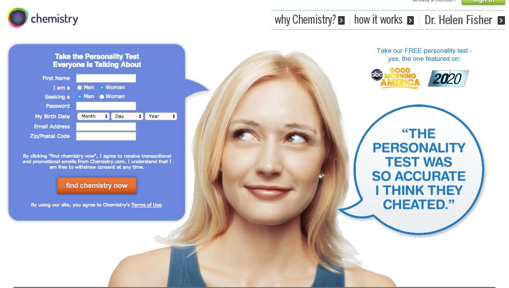 chemistry.com online dating site
