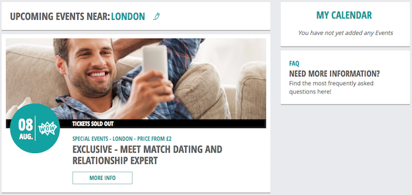 DatingDirect Events Feature