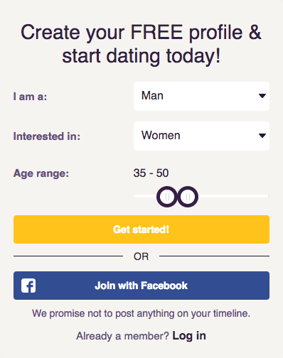 Signing Up for MySingleFriend